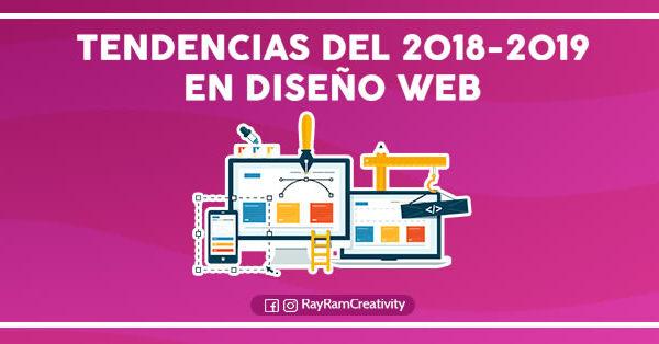 Tendencias del 2018-2019 en Diseño Web